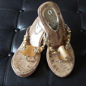 Wedge cork look sandals